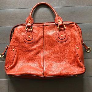 Franklin Covey Full Grain Leather Orange